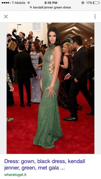 98ad03a1 green kendall jenner sequins sequin dress red carpet dress kardashians  model side boob