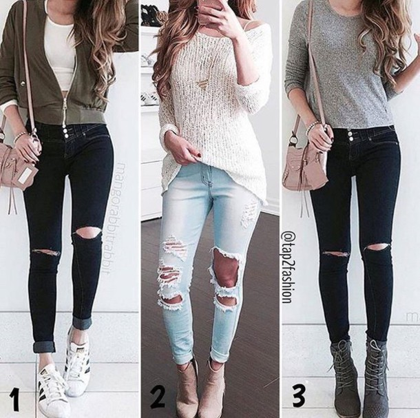 jeans, kawaii, tumblr, tumblr girl, tumblr outfit, shirt ...
