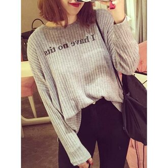 sweater i have no tits quote on it selfie oversized sweater instagram cute high waisted jeans streetwear school bag college asian fall sweater casual rose wholesale urban