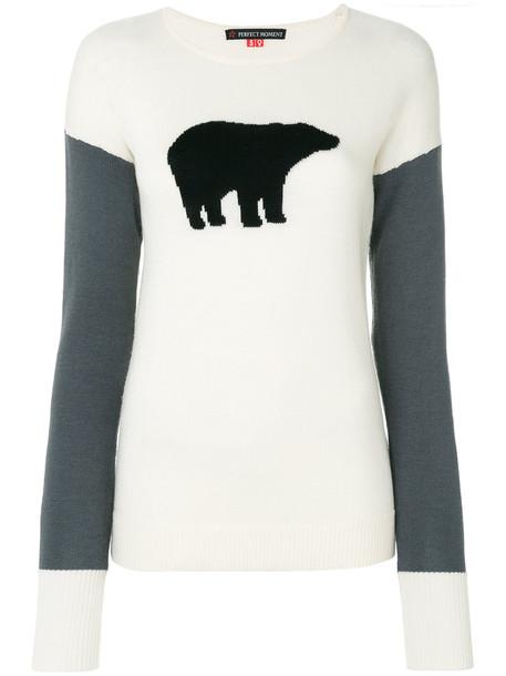 sweater bear women white