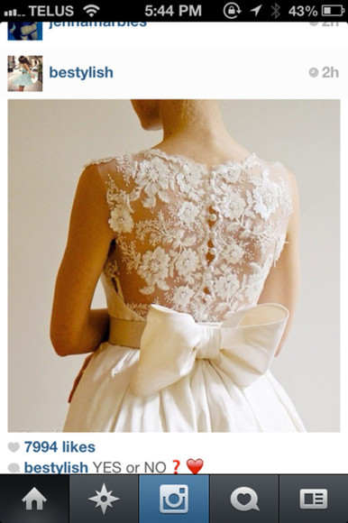 Bow Back Dress bows bow belt hair bow wedding dress vintage wedding dress bow belt