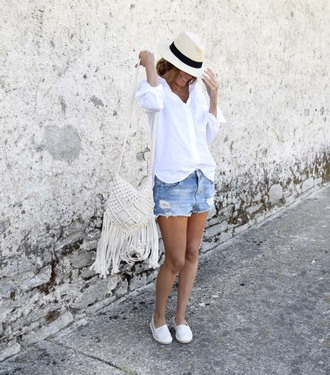 rebel attitude blogger shirt shorts bag shoes hat