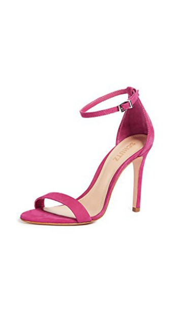 Schutz sandals rose bright shoes