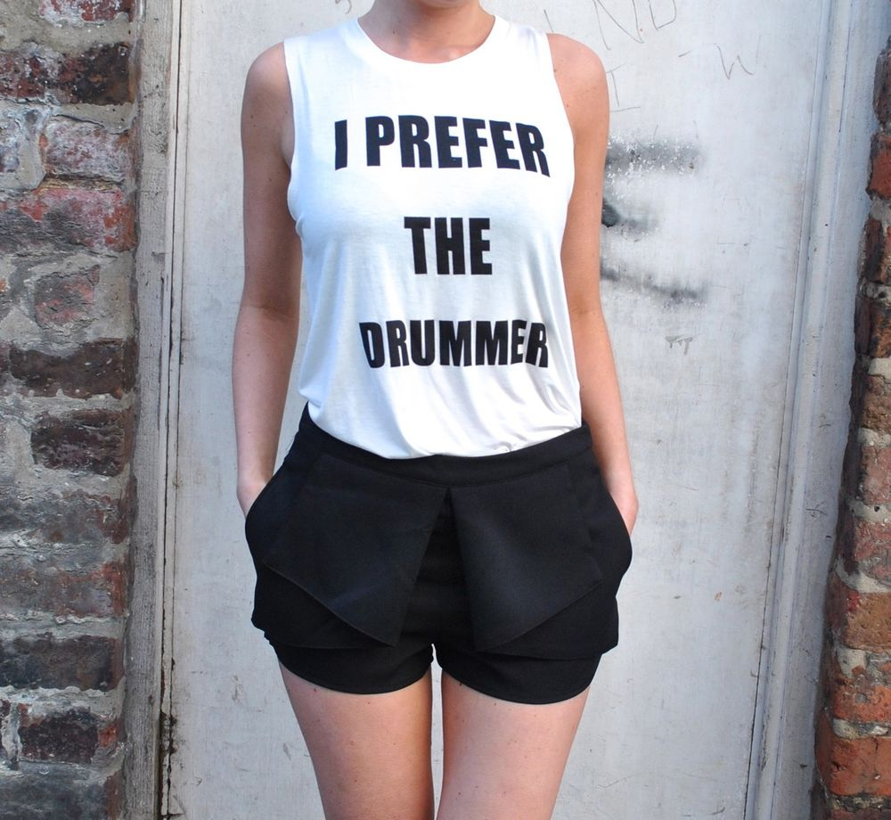 18fa83067d94c new boutique cream i prefer the drummer slogan festival tank top vest ...