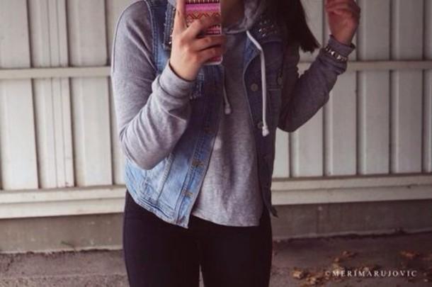 jacket jeans hoddie swag