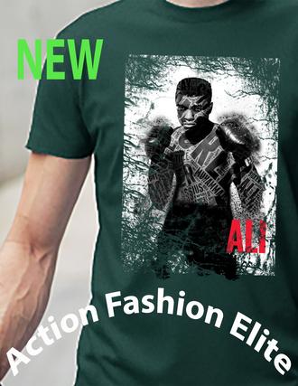 t-shirt grunge t-shirt graphic tee green muhammad ali shirt tank top