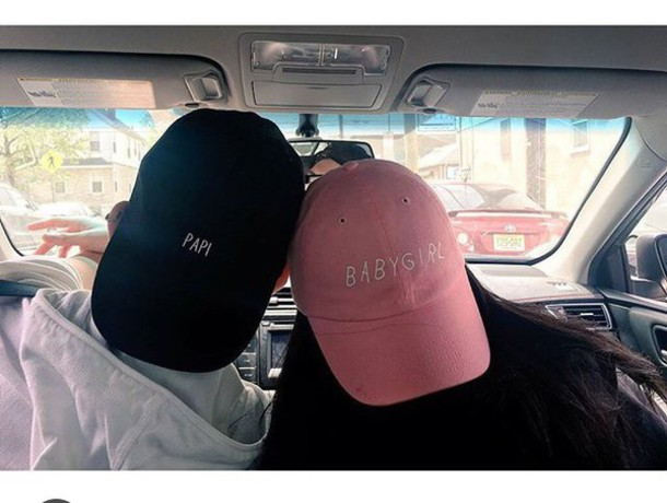49e3dfc31f1 hat papicap papi babygirl cap black cap matching couples black papi pink  babygirl baby girl baby