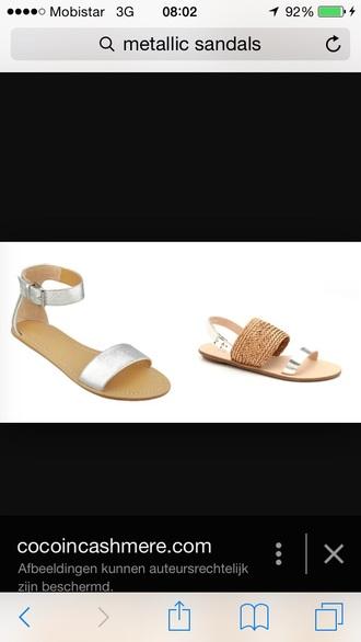 shoes cute sandals sandals shoes silver style silver shoes