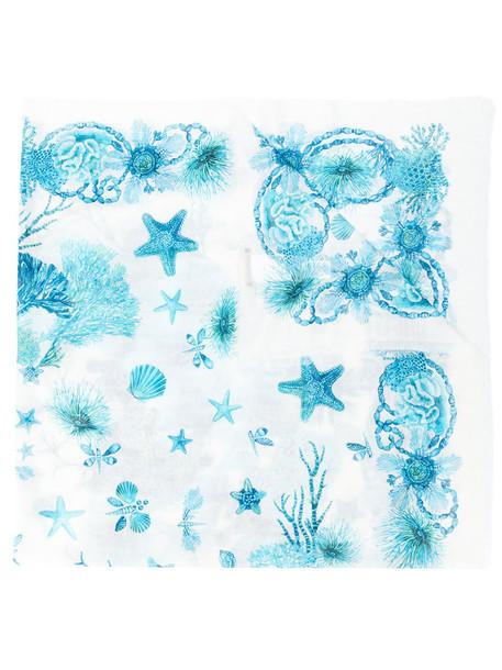 sea women scarf blue silk