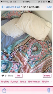 bag,bohostyle,multicolor,bedding,comfy,fluffy,bedroom