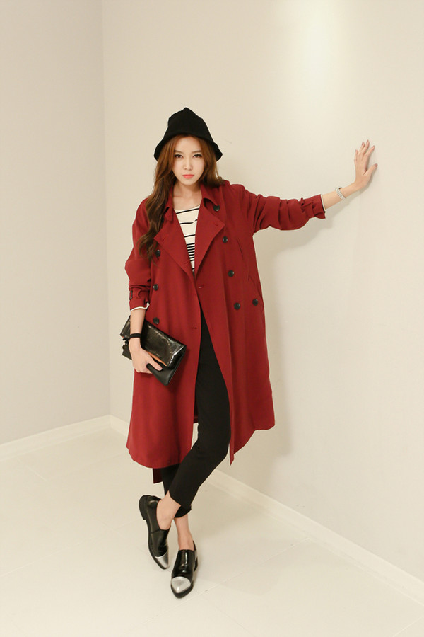 jacket long jacket trench coat korean style