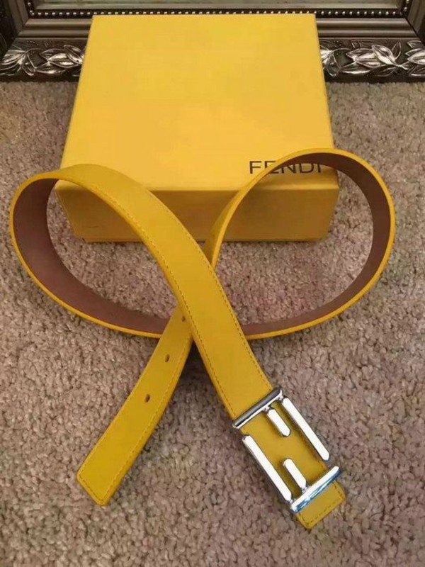 belt logo belt yellow yellow belt fendi leather leather belt