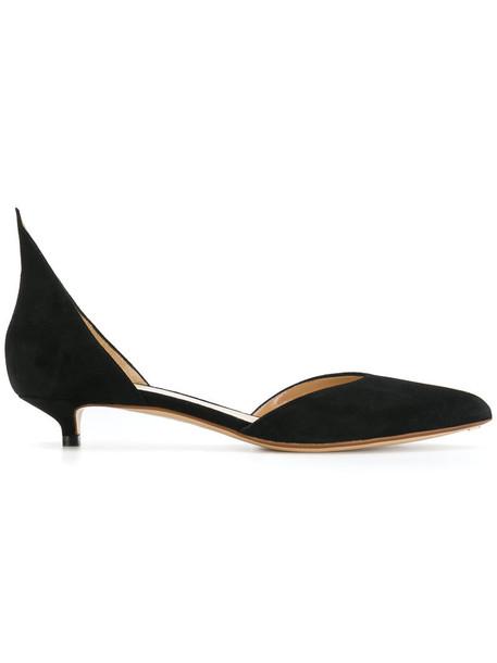 Francesco Russo heel women pumps leather black shoes