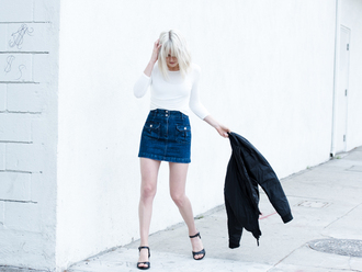 fire on the head blogger skirt top underwear shoes