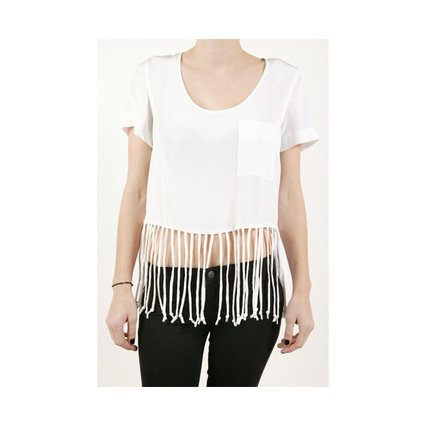 Madison Marcus Fringe Crop Top - White : Madison Marcus - Polyvore