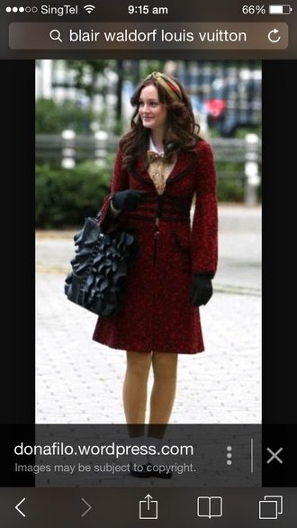 dress gossip girl blair bag