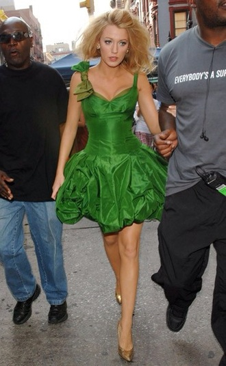 dress green green dress blake lively gossip girl