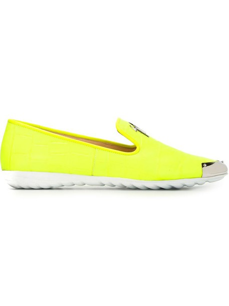 GIUSEPPE ZANOTTI DESIGN sneakers yellow orange shoes
