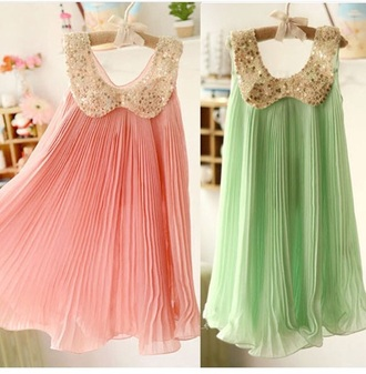 dress pink dress turquoise dress light pink dress pleated dress