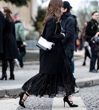 bag chanel gabrielle small hobo bag chanel chanel bag white bag coat black coat streetstyle heels