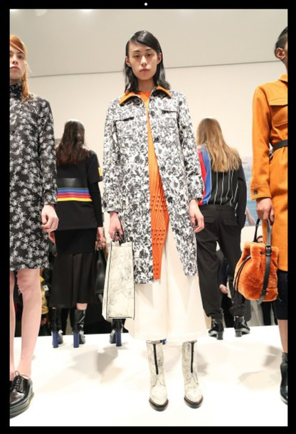 coat print culottes fashion week 2015 opening ceremony