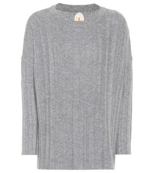 Jardin des Orangers Ribbed wool and cashmere sweater in grey