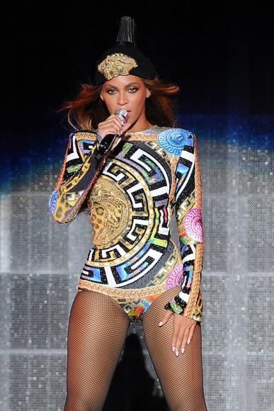 blouse queen bey versace colorful bodysuit beyoncé