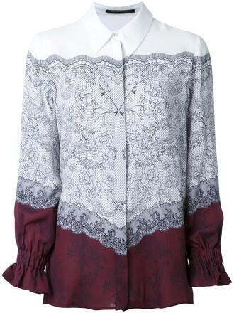 shirt lace print top