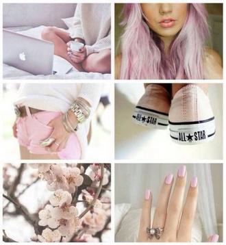 nail polish pink dye converse taylor gang cherry blossom spring