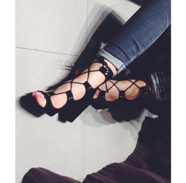 094a490d1b8 Shoes black lace up front high heels patent flat going out sultry shoes jpg  610x602 Going