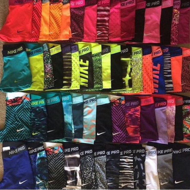 shorts nike spandex cute adidas sports bra activewear compression shorts matching set colourful print bright pattern