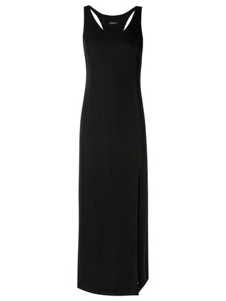 dress slit dress women slit black