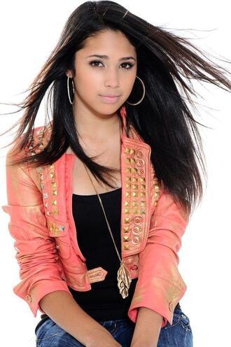 jacket studs pink studded jacket pink jacket jasmine v jasmine villegas