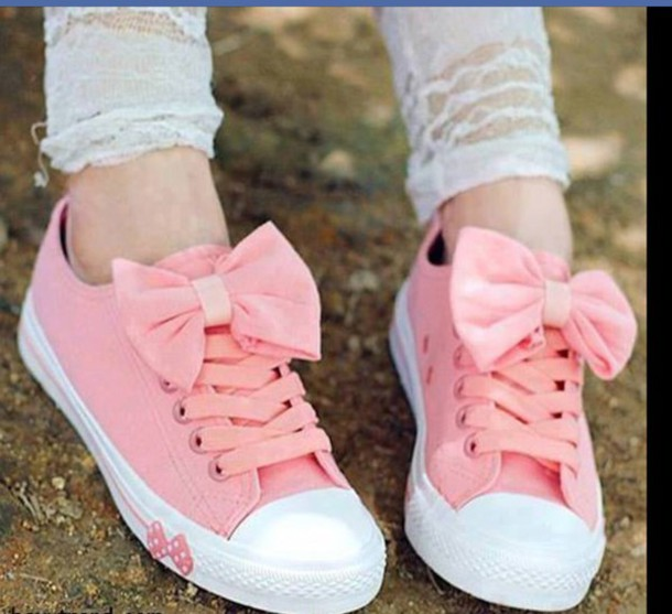 shoes trainers wits bow