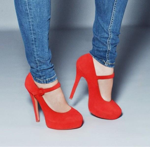 red redheels red high heels heels orange shoes orange bright salomés cute cocktail red heels