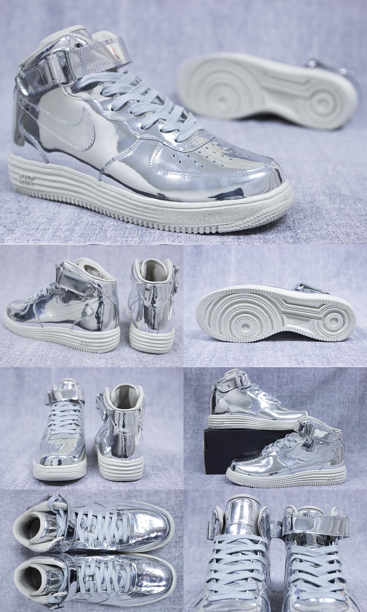 Nike Lunar Force 1 Mid SP 652849 092 Metallic Silver New DS Sz Sz 11 11 5 12 | eBay