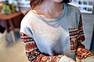 sweater clothes tank top jeans shirt tribal pattern bag aztec hippie hipster cute patriotic sweater fall sweater fall outfits sweatshirt oversized sweater indie vintage boho print pocket t-shirt winter outfits grey style summer outfits fashion red dress red flowered shorts popular sweater blouse winter sweater christmas sweater aztec sweater aztec hoodie hoodie cutie cocooning grey sweater