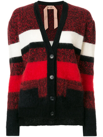 cardigan cropped women embellished mohair wool red sweater