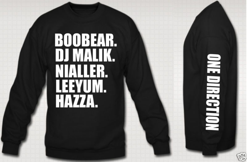 I love one direction crewneck niall zayn liam louis harry boys nick name 1d