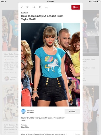 shirt taylor swift unicorn