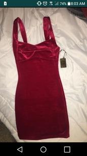 dress,red,velvet,afterdrk