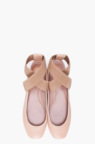 shoes ballerina blush pink ballet