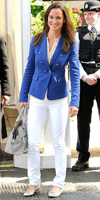 blue jacket pippa middleton