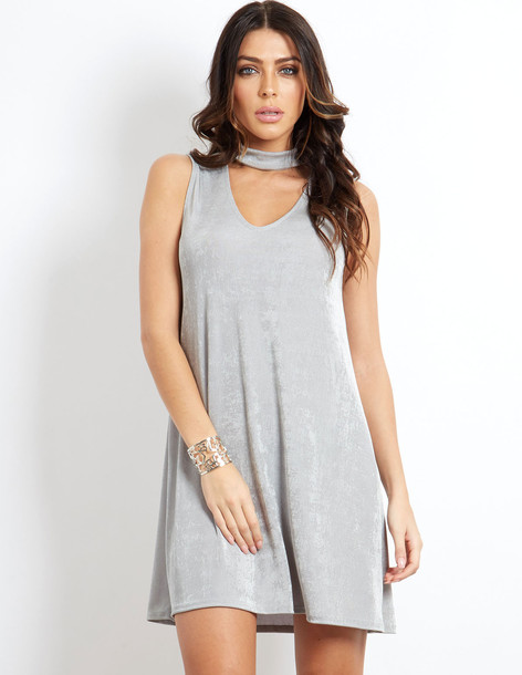 Blue Vanilla AURALEE - Sleeveless Swing Dress Grey