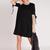 Black Short Sleeve Swing T-shirt Dress