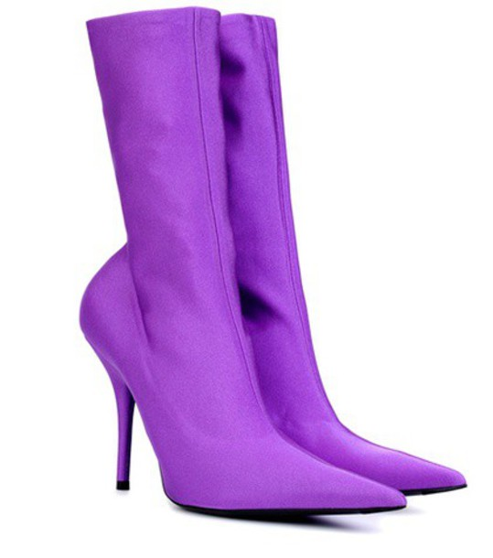Balenciaga ankle boots purple shoes