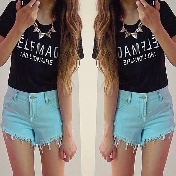 t-shirt black tumblr instagram celine celfmademillionaire celfmade