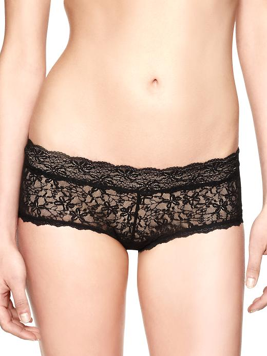 gap sexy lace girl shorts - true black