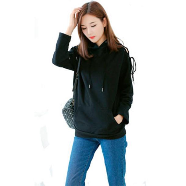 top women fashion womens hoodie black hoodie sweatshirt