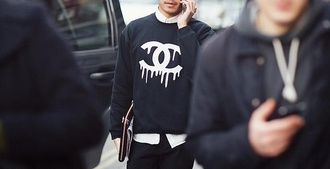 sweater chanel chanel t-shirt menswear women hat